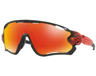 Oakley Jawbreaker Prizm Ruby Cycling Glasses Red