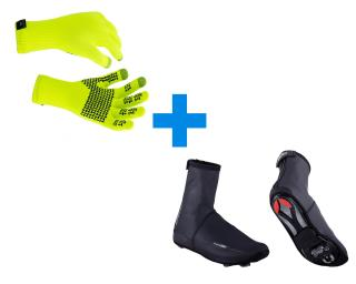 Sealskinz Ultra Grip & BBB Waterflex Combi Deal Zwart / Geel