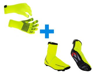 Sealskinz Ultra Grip & BBB Waterflex Combi Deal Geel