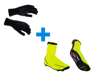 Sealskinz Ultra Grip & BBB Waterflex Combi Deal Yellow / Black