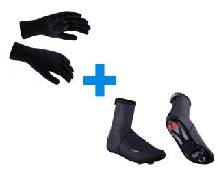 Sealskinz Ultra Grip & BBB Waterflex Combi Deal Black