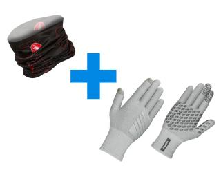 GripGrab Primavera & Castelli LW Head Thingy Combi Deal Grey