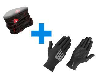 GripGrab Primavera & Castelli LW Head Thingy Combi Deal Black