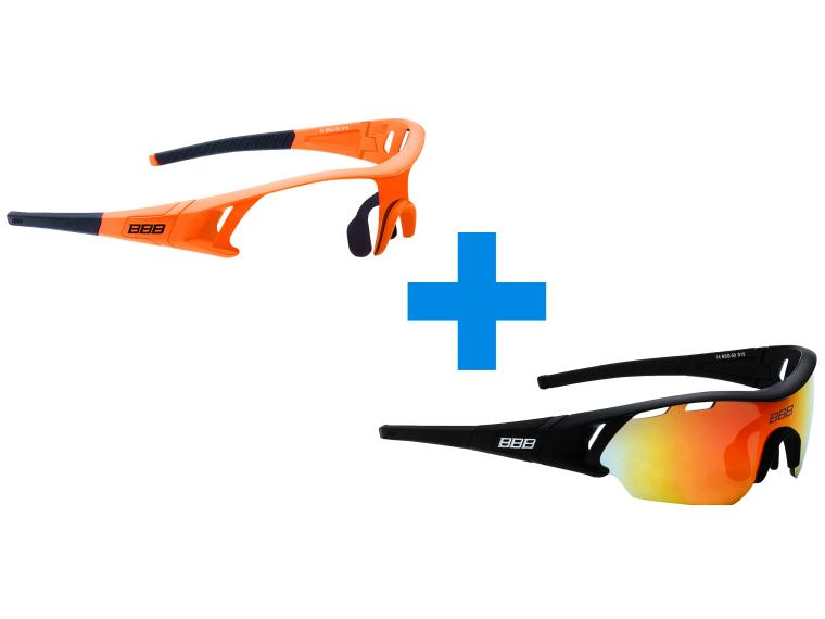 BBB Cycling Summit Cycling Glasses Orange