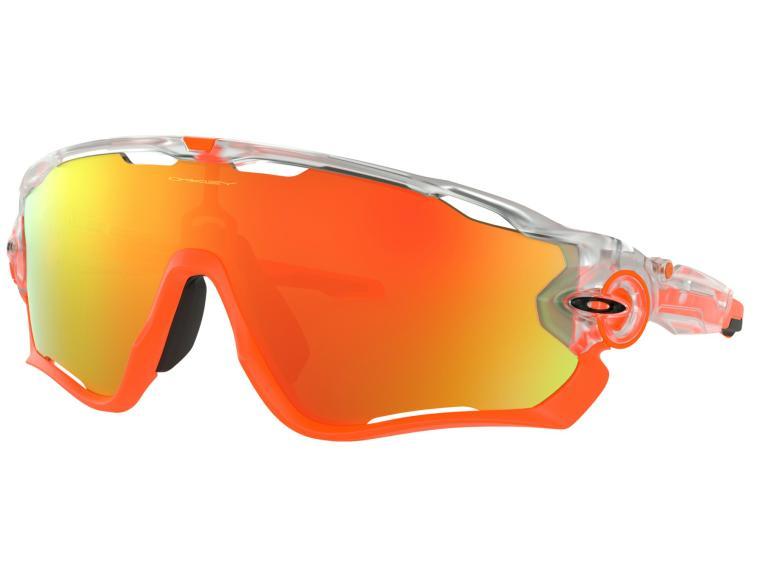 e69bb609c27 Lunettes de Vélo Oakley Jawbreaker Fire Iridium Crystal Clear