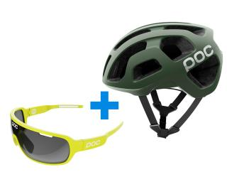 POC Octal Septane Green + gratis POC DO Blade Helm
