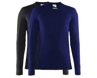 Craft Active 2-Pack Untershirt Langarm Schwarz / Blau