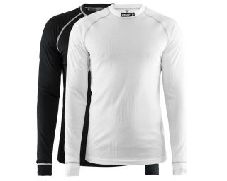 Craft Active 2-Pack Long Sleeve Base Layer Black / White