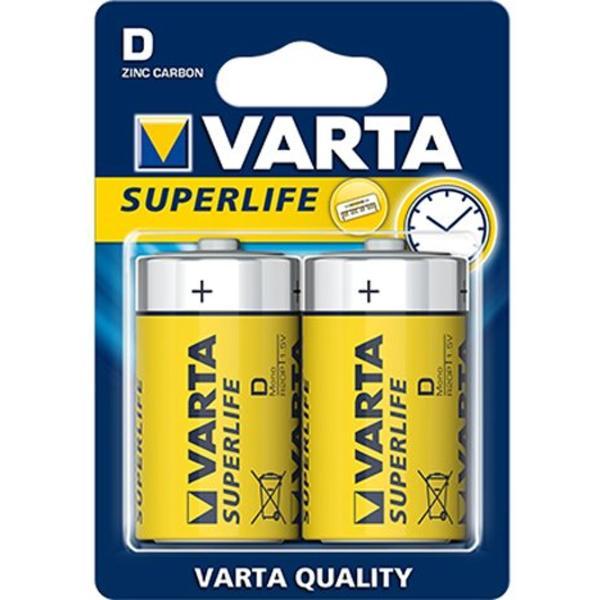 Varta Mono LR20 D Superlife   Batterier og opladere