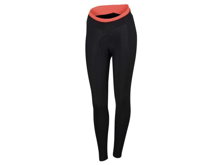 Sportful Luna Thermal Cycling Tights Black/Coral Fluo