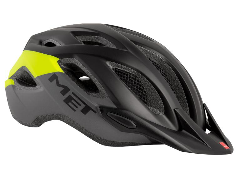 MET Crossover MTB Helmet Black / Yellow