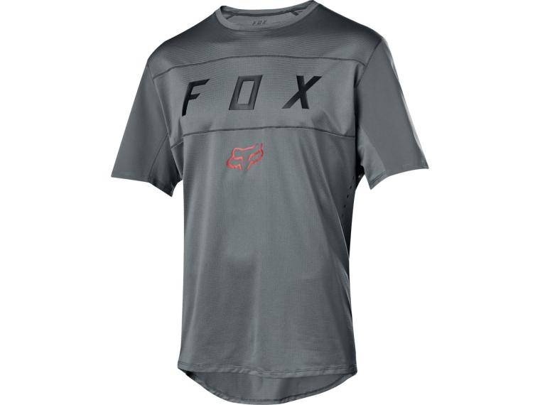 Maillot VTT  Fox Racing Flexair SS Moth Gris