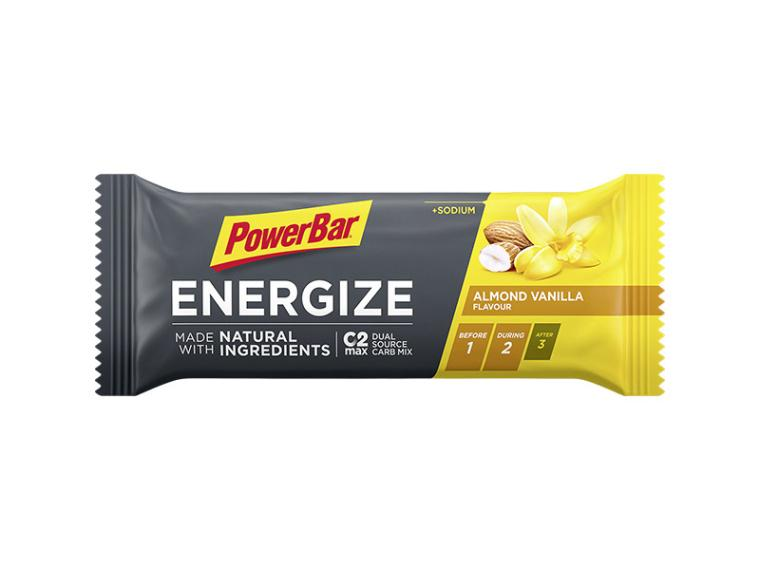 PowerBar Energize Bar Natural Ingredients Almond Vanilla