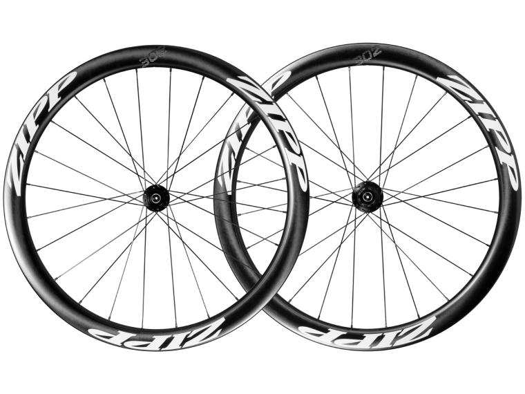 Zipp 302 Carbon Clincher Disc Road Bike Wheels Set / White