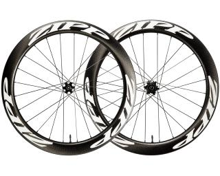 Zipp 404 Firecrest Carbon Clincher Tubeless Disc Road Bike Wheels Set / White