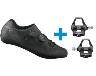 Shimano RC701 + Shimano Ultegra R8000 SPD-SL Road Shoes Black