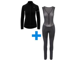 AGU Essential Thermo + Essential Prime W set Fietsbroek