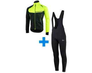 Rogelli Contento + Tavon set Bib Tights Black