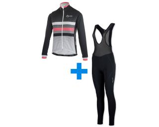 Rogelli Dot- W + Liona set Fietsbroek