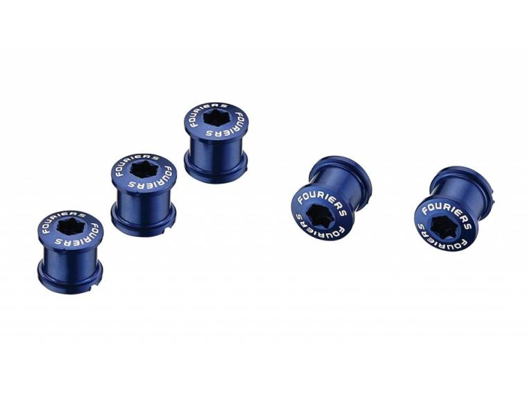 Fouriers Chainring bolts Blue