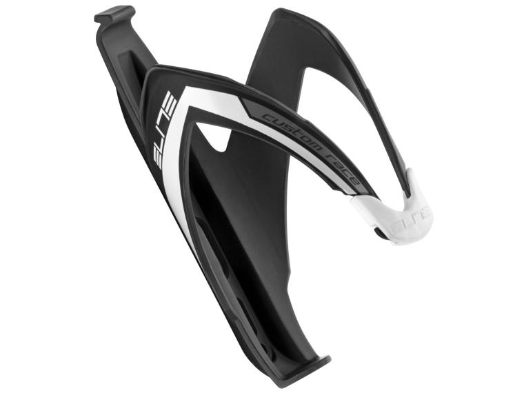 Elite Custom Race Bottle Cage Matte Black / White