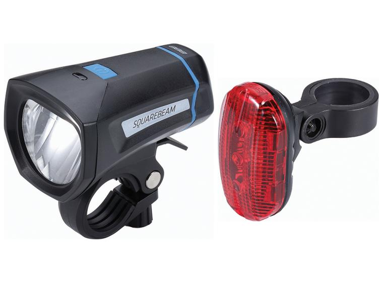 BBB Cycling SquareCombo Lighting Set BLS-102K StVZO Light Set
