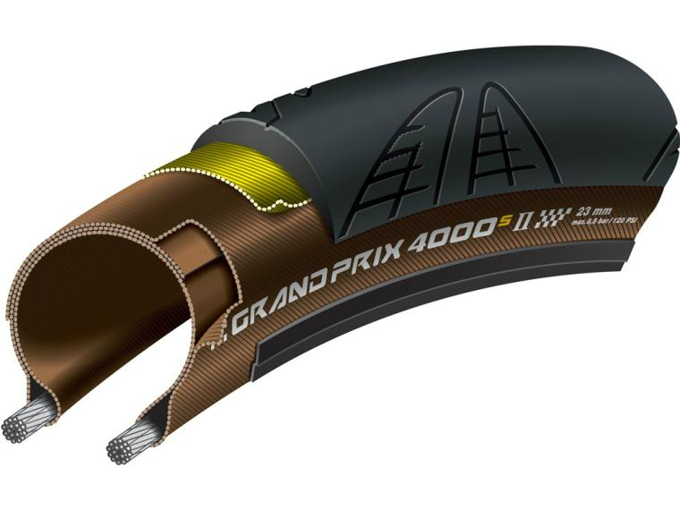 Continental 4000 SII Transparent Road Bike Tyre