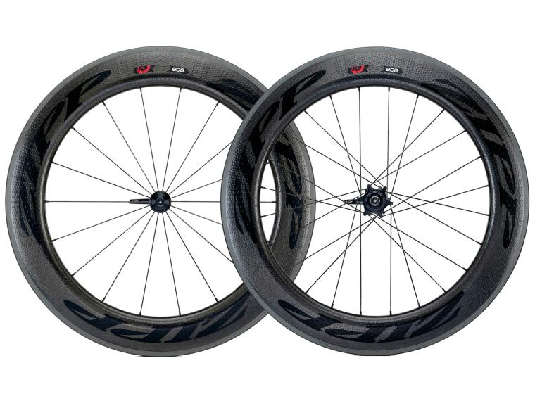 Zipp 808 Firecrest Carbon Clincher Road Bike Wheels Black