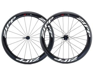 Zipp 404 Firecrest Carbon Clincher Road Bike Wheels Set / White