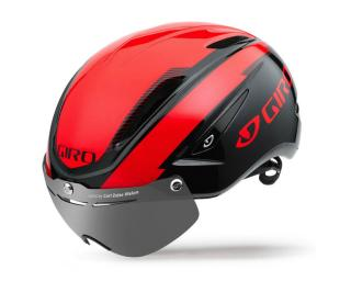 Giro Air Attack Shield Helm Glimmend Rood / Zwart