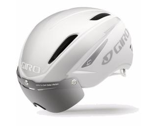 Giro Air Attack Shield Helm Mat Weiß / Silver