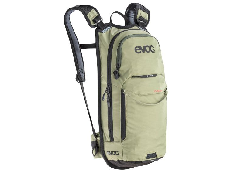 Evoc Stage 6L + 2L bladder Rugzak Light olive