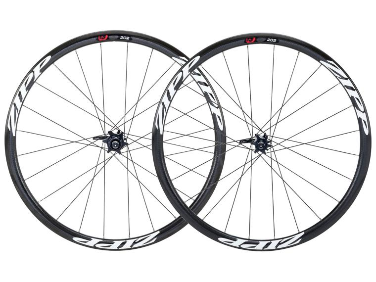 Zipp 202 Firecrest Carbon Clincher Disc Road Bike Wheels White