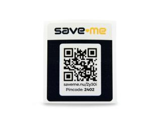 Save-Me Sticker-Set Schwarz
