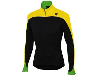 Sportful Force Thermal Fietsshirt Geel / Zwart