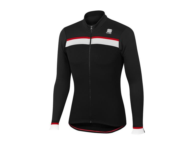 571288160 Sportful Pista Thermal Jersey Black