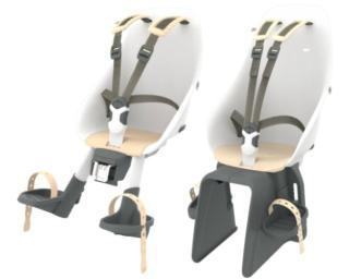 Urban Iki Front & Rear Child Seat White