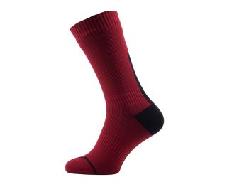 Sealskinz Road Thin Mid Socks Red