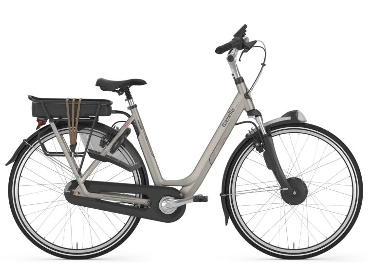 Gazelle Orange C8 HFP E-Bikes Silver Sand