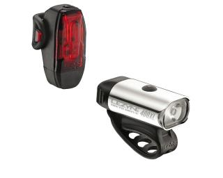 Lezyne Hecto Drive 400XL & KTV Drive LED Rear Light Set Grey