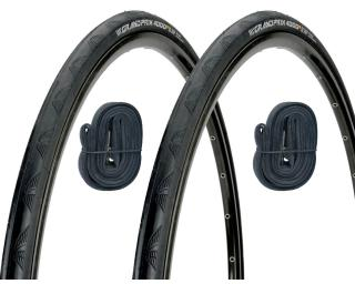 Continental Grand Prix 4000S II Tyre 2 pieces / + 2 inner tubes for just £5