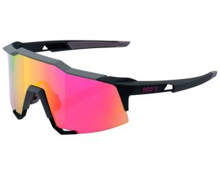 82f94212e16c 100% Speedcraft Purple Multilayer Mirror Cykelbrille Grå   Violet