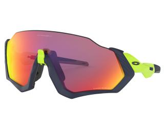 Oakley Flight Jacket Prizm Road Fahrradbrille Blau