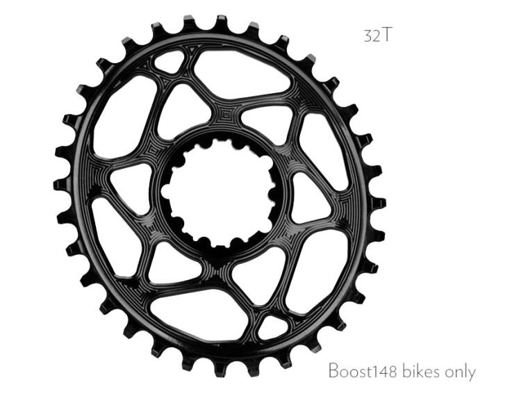 AbsoluteBLACK Sram Oval Boost 148 Chainring Black