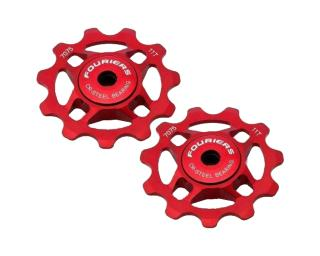 Fouriers Jockey Wheels Full CNC Jockey Wheels Red