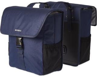 Basil Go Double Bag Pannier Blue