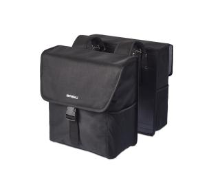 Basil Go Double Bag Pannier Black