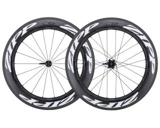 Zipp 808 Firecrest Carbon Clincher 2019 Road Bike Wheels Set / White