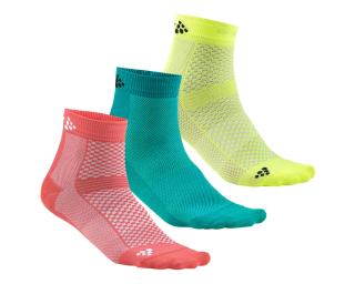Craft Greatness Mid 3-Pack Socks Pink