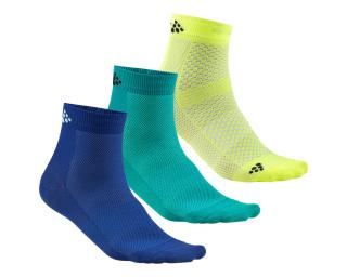 Craft Greatness Mid 3-Pack Socks Blue